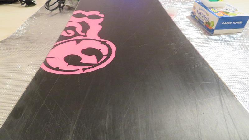 スノーボード板簡単ホットワックスの下地処理