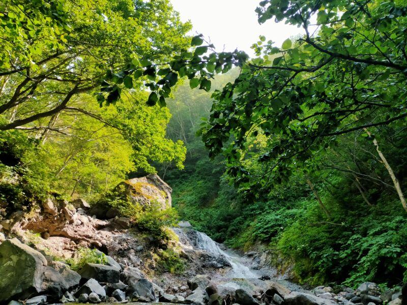 カムイワッカの滝2